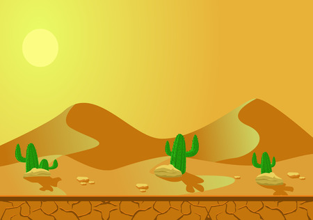 barren: A desert is a barren area of land where little precipitation occurs and consequently living conditions are hostile for plant and animal life