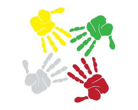 together hands Illustration