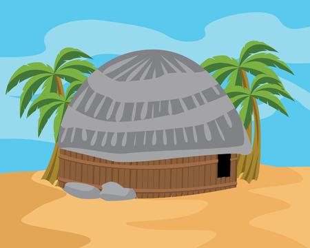 papua: honai traditional house