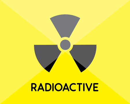 irradiation: radioactive sign and symbol Illustration