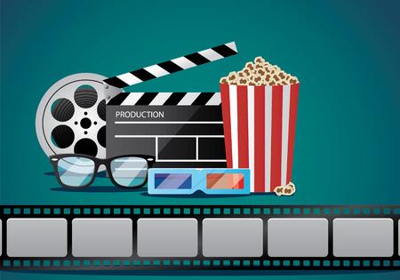 movie object illustration Illustration