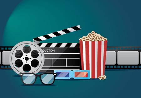 film and movie illustration
