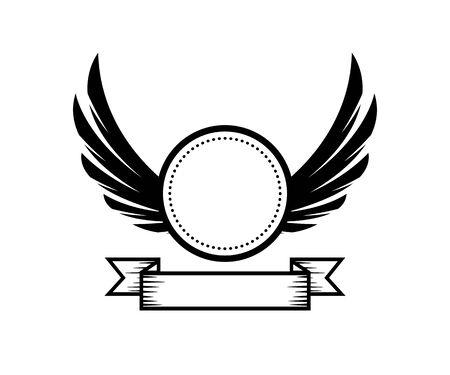 circle badge retro illustration. Illustration