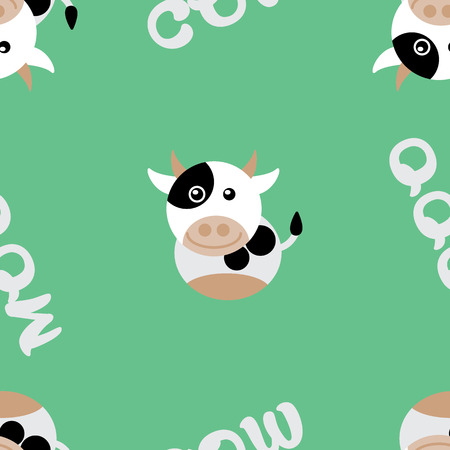 cute cow seamless background Illustration