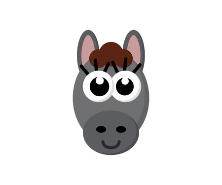 Cute funny donkey illustration design Ilustração
