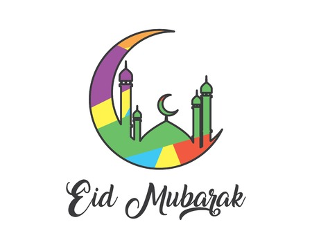 eid mubarak cartoon design illustration.cartoon design style, designed for illustration