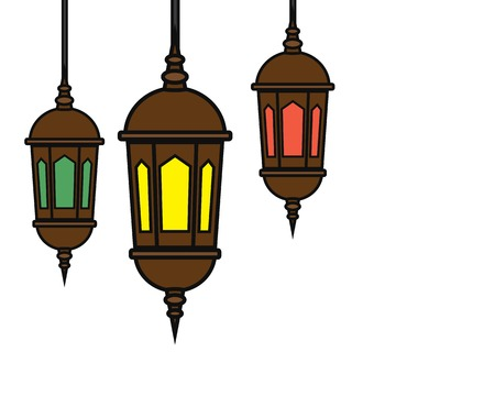 eid mubarak lantern cartoon design illustration.cartoon design style, designed for illustration