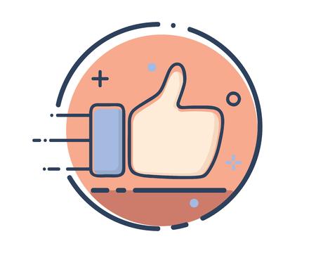 like icon design illustration,line filled style design, designed for web and app  イラスト・ベクター素材