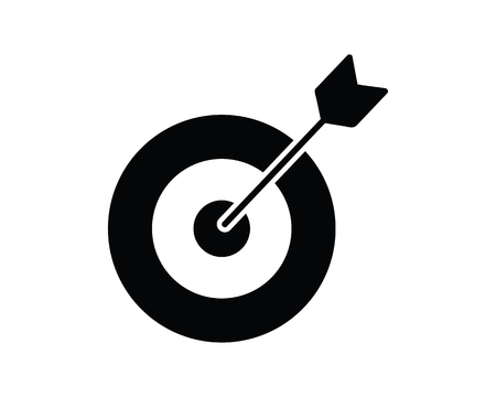 target icon design illustration,glyph style design, designed for web and app