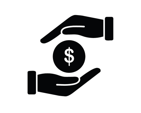 give and receive fees icon design illustration,glyph style design, designed for web and app