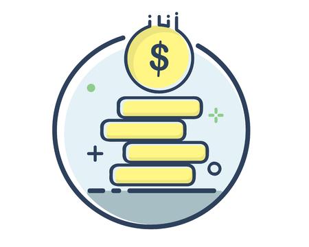 finance icon set design illustration,line filled style design, designed for web and app