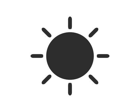 sun icon design illustration,glyph style design, designed for web and app 向量圖像