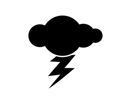 thunder cloud icon design illustration,glyph style design, designed for web and app 向量圖像