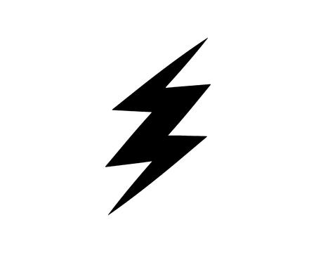 thunder icon design illustration,glyph style design, designed for web and app