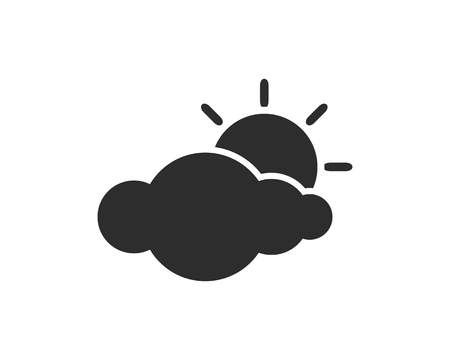 cloudy icon design illustration,glyph style design, designed for web and app