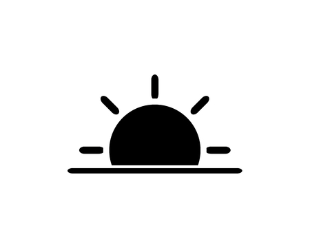 sunset icon design illustration,glyph style design, designed for web and app 向量圖像
