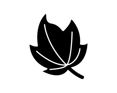 leaves icon design illustration,glyph style design, designed for web and app