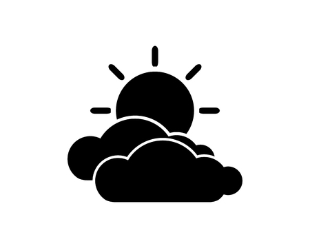 clouds sun icon design illustration,glyph style design, designed for web and app