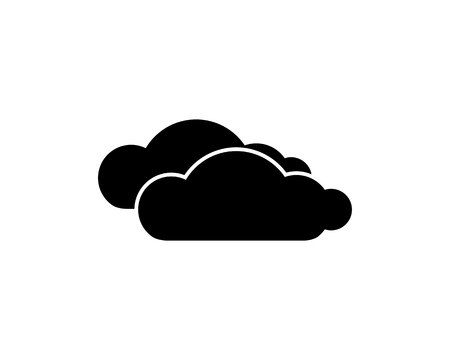 clouds icon design illustration,glyph style design, designed for web and app 向量圖像