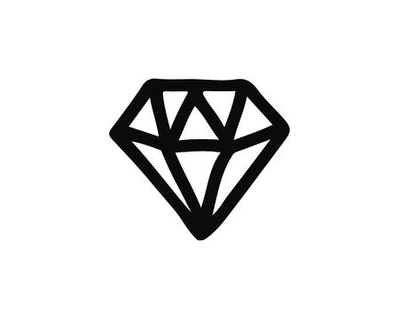 diamond icon design illustration,hand drawn style design, designed for web and app