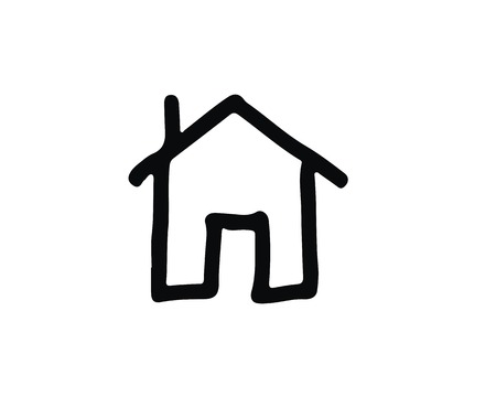 house icon design illustration,hand drawn style design, designed for web and app