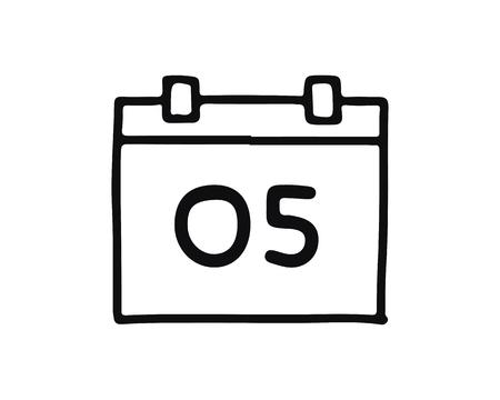 calendar bulb icon set design illustration,hand drawn style design, designed for web and app