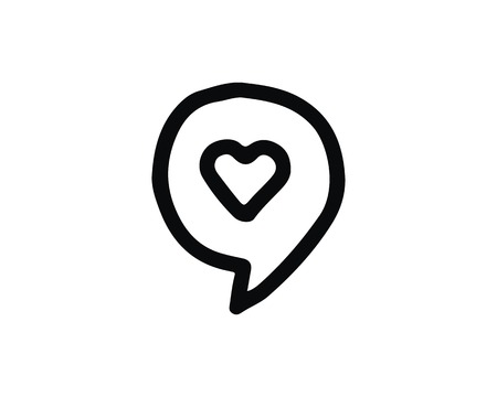 chat icon design illustration,hand drawn style design, designed for web and app