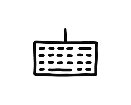 keyboard icon design illustration,hand drawn style design, designed for web and app