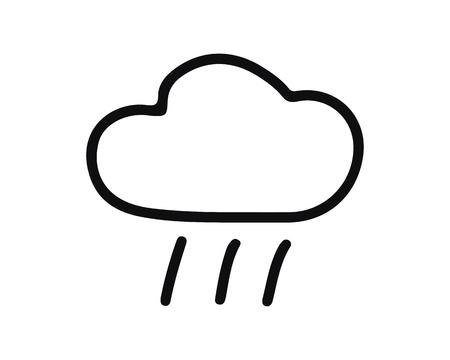 rain cloud icon design illustration,hand drawn style design, designed for web and app