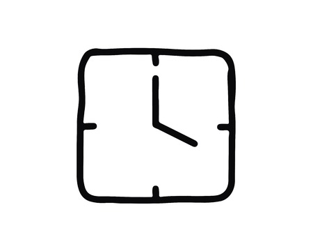 clock icon design illustration,hand drawn style design, designed for web and app