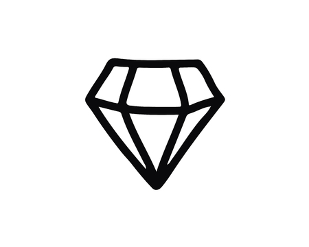 diamond icon design illustration,hand drawn style design, designed for web and app