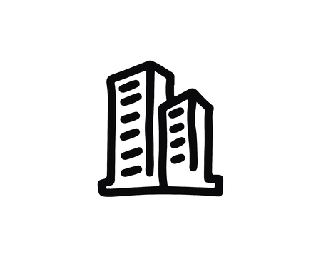 building icon design illustration,hand drawn style design, designed for web and app 向量圖像