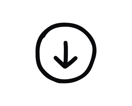 down icon design illustration,hand drawn style design, designed for web and app
