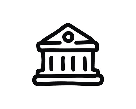bank icon design illustration,hand drawn style design, designed for web and app Иллюстрация