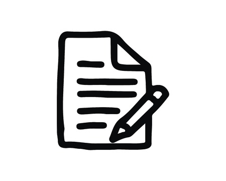 note icon design illustration,hand drawn style design, designed for web and app 向量圖像