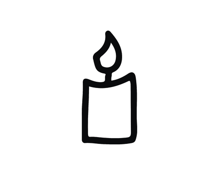 candle icon design illustration,hand drawn style design, designed for web and app