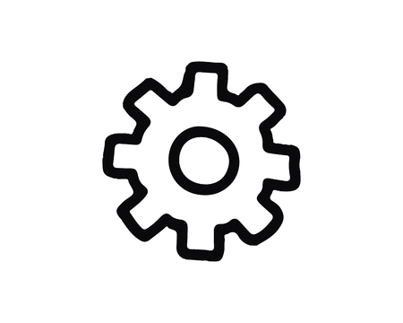 setting icon design illustration,hand drawn style design, designed for web and app