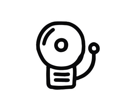 bell icon design illustration,hand drawn style design, designed for web and app
