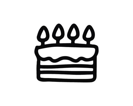 birthday icon design illustration,hand drawn style design, designed for web and app