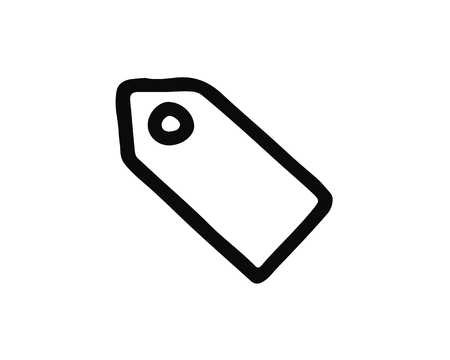 price tag icon design illustration,hand drawn style design, designed for web and app