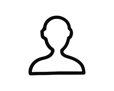 person icon design illustration,hand drawn style design, designed for web and app 向量圖像