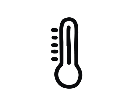 thermometer icon design illustration,hand drawn style design, designed for web and app 向量圖像