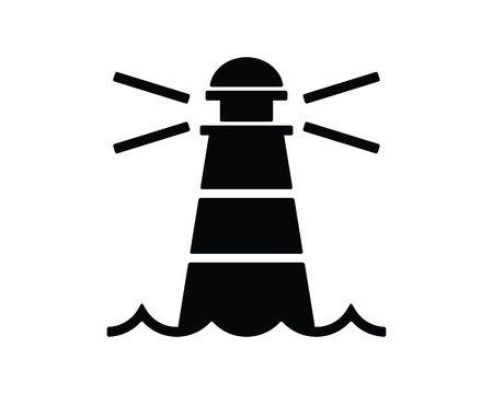 lighthouse navigation icon , designed for web and app