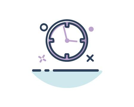 time icon line filled design illustration,designed for web and app