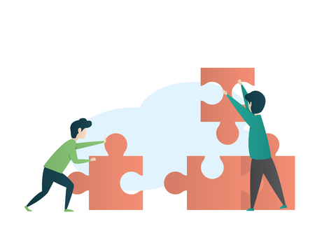 teamwork eye catching illustration design Illustration