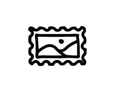 stamp hand drawn icon , designed for web and app