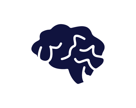 medical brain icon design round illustration,glyph style design, designed for web and app Illustration