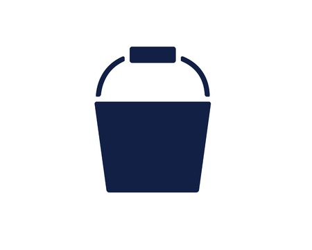 bucket glyph icon , designed for web and app 向量圖像