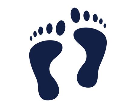 footprint glyph icon , designed for web and app Ilustracje wektorowe