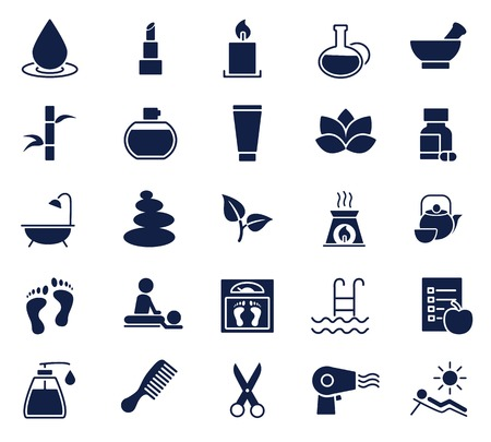 beauty and health glyph icon set , designed for web and app